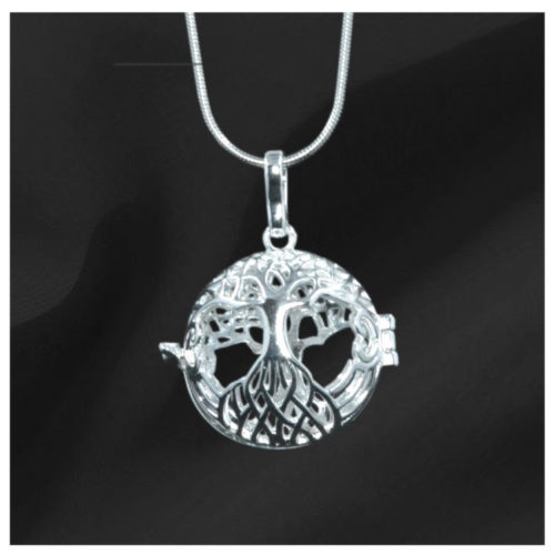 Silver Tree of Life Gem Pendant